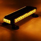 12V 30W Signal d'urgence de signal d'avertissement de guide optique de barre de lumière de toit de la voiture LED Flash Ambre magnétique 7 modes universels