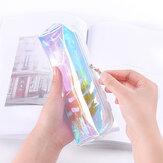 Freddo Laser Matita colorata trasparente Borsa Cosmetico impermeabile in PVC Borsa