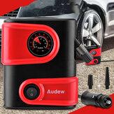 AUDEW 12V DC Gonfiatore per pneumatici per auto Mini portatile Compressore d'aria Pompa Pompa per pneumatici automatica per auto Moto Moto SUV e altri gonfiabili