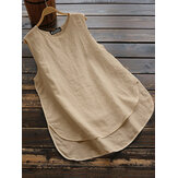 Sleeveless Summer Tank Tops Irregular Camisole Blouse Cami