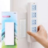 Free of Punch Power Strip Fixator Non-trace Plug Board Socket Wall Holder for Home
