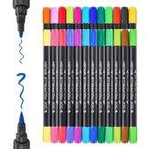 STA 24/36 Colores Marcador de puntas dobles Pluma Acuarela coloreada Cepillo Plumas para libros de colorear Dibujo de boceto de caligrafía cómica Manga
