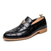 Couro genuíno Padrão Oxford de negócios casuais para sapatos de vestido