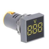 3 stks Geel 22 MM AC 12-500 V Voltmeter Vierkant Paneel LED Digitale Spanningsmeter Indicator Licht
