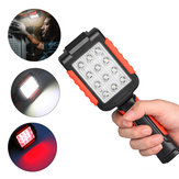 XANES® 6035 9xLED 3Modes 180° Rotating Flashlight USB Rechargeable Magnetic Work Light AAA
