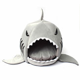 M / L Ukuran Unik Dicuci Soft Shark Mouth Pet Dog Cat Cave Pet Bed House