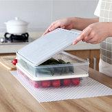 Rack de stockage de réfrigérateur alimentaire en plastique transparent monocouche scellé avec couvercles de verrouillage