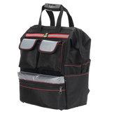 多機能オックスフォード布ダブルショルダーツールバッグストレージバックパックバッグ電気技師はポータブルツールバッグを維持します