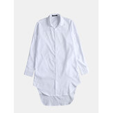 Mens Casual Baggy Dress Shirts Long Sleeve Party Hip Hop Button Down Tee Tops US