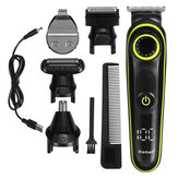 5 in 1 Electric Hair Clippers Household LED Display Multifunctional Rechargeable Shaver Nose Trimmer