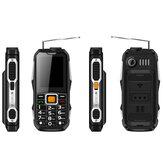 GIONLD 2019 2.4 inch 3000mAh Power Bank Magical Voice Military Antenna Analog TV FM Radio bluetooth Flashlight Dual SIM Card Feature Phone