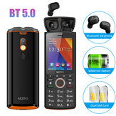 SERVO R25 TWS True Wireless bluetooth 5.0 Headphone 2.8 inch 6000mAh Power Bank GPRS Dual SIM Card Feature Phone