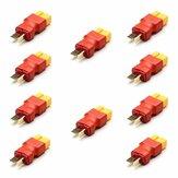 10 قطع Amass XT60 أنثى إلى T Plug ذكر محول موصل ل نماذج rc