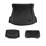 3pcs Black Car Trunk Mat Modified TPE Pad Front Rear Cargo Liner For Tesla model 3