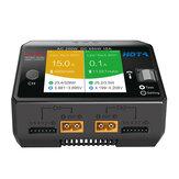 HOTA D6 Pro AC 200W DC 650W 15A * 2 Dual Channel Lipo-oplader met draadloos opladen voor NiZn/Nicd/NiMH-batterij
