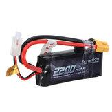 Bateria Lipo GENSACE ACE 2200 mAh 50C 7.4 V 2S1P XT60 / T Plug Do wszystkich modeli pojazdów Trx4 1/16 VXL 19 * 34 * 86 mm