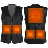 Electric 5V USB Heated Warm Cotton Vest Men Women 3S Warm Infrared Heating Coat Jacket