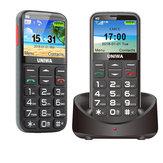UNIWAV808G2,31polegadas1400mAh3G Suporte de carregamento Alto-falante Bluetooth Tocha One Chave SOS Feature Phone