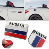 3D Liga de Alumínio Rússia Flag Car Auto Stickers Decal Emblem 5 X 5 CM
