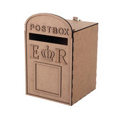 Large Wooden Wedding Card Post Mail Box Receiving Guest Decoration Mailbox Gift