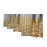 Drillpro 2 SET 1/1.5/2/2.5/3mm HSS Titanium Coated Twist Drill Bits 50PCS/SET High Speed Steel Drill Bits