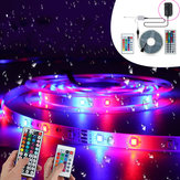 5M 3528 RGB 300 Flexible LED Strip Light With 24Keys Or 44 Keys Infrared Remote Control for Home Outdoor Use