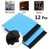 12PCS防音フォームタイルキットブラック+ブルー
