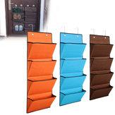 4 bolsillos poliéster puerta colgante organizador titular estante de almacenamiento Bolsa armario Organizador