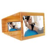 12-дюймовая деревянная складная 3D-лупа для экрана телефона с видео-телефоном Усилитель для смартфона для iPhone для Samsung