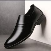Chaussures formelles antidérapantes en microfibre pour hommes