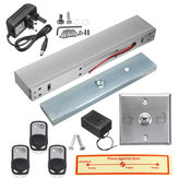 Door Access Control System Electric Magnetic Door Lock with 3 Remote Controls
