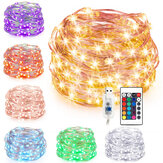7M 10M USB zilveren draad RGB DIY LED String Fairy Light Christmas Decor met 24 toetsen afstandsbediening