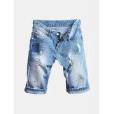 Short en jean avec trous pour hip-hop