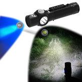 Wainlight BD12 uv365nm 5 واط led + uv مضيا 3 طرق USB قابلة ضد للماء المغناطيسي الشعلة ضوء الصيد الصيد العمل مصباح