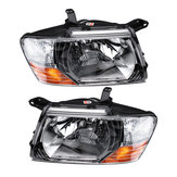 Front Headlights Head Lamps LED Lights L+R Pair For Mitsubishi Pajero Montero 2000-2006 Grey