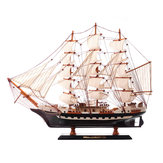 48cm Wooden Sailboat Ship Model Building Sailing Ship Display Scale Boat Decor
