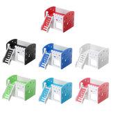 Çift Katmanlı Merdiven Hamster Evi Küçük Hayvan Pet Mouse Kafes Kale Egzersiz Oyuncaklar