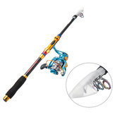 Zanlure 1.8M Telescopic Pole+Spinning Reel Fishing Rod Combo Fish Hunting Set with Storage Box Outdoor Activity