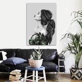 Menina moderna impressão em tela pinturas retrato da arte da parede decoração de escritório em casa sem moldura