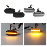 Pair LED Side Marker Lights Repeaters Turn Lamps Yellow for Renault Nissan Opel Smart