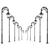 5Pcs Escala 1:87 Modelo Railway Lamppost Lâmpadas LED Street Garden Train Light