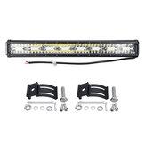 23 pulgadas 10V-32V 176W Impermeable IP67 LED Barra de luces de trabajo Combo de conducción Lámpara Con luz lateral SUV todoterreno ATV UTV 4WD