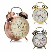 4 Inches Twin Bell Alarm Clock Series Retro Metal Style Twin Bell Clock Bedroom Decoration