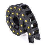 Machifit 25mm x 38 / 57mm Support de fil de chaîne de traînée de câble en plastique non ouvert Longueur 1000mm