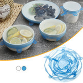 6Pcs Food Silicone Stretch Kitchen Storage Container Bowl Cover Fresh Keeping Vacuum Sealed Lid