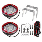 7 pouces DC12-36V Round Work Light LED Spot Flood pour Offroad Headlight Marine Boat
