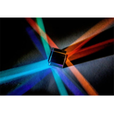 15mm Cube Combination Prism ضوء Cube Six-Sided مشرق Beam Splitting Prism Toys