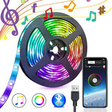 5V USB Power bluetooth Music remoto APP LED Strip Light 5050 RGB TV Retroilluminazione Decorazione