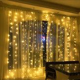 6Mx3M AC220V EU Stecker LED Vorhang String Licht Organza Hintergrund für Hochzeiten Geburtstag Party Events Display