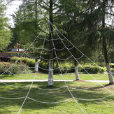 Halloween Decorations Spider Web Triangular Mega Outdoor Graveyard Decor Scary Props Toys